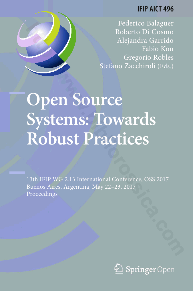 BiblioRossica - Book - Open Source Systems: Towards Robust